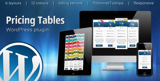 WordPress Pricing Tables plugin