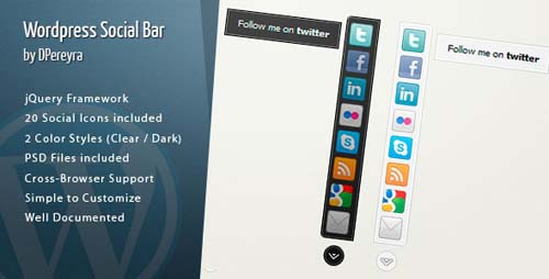 Wordpress Social Bar