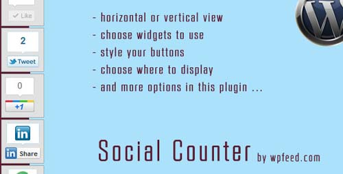 Wordpress Social Counter