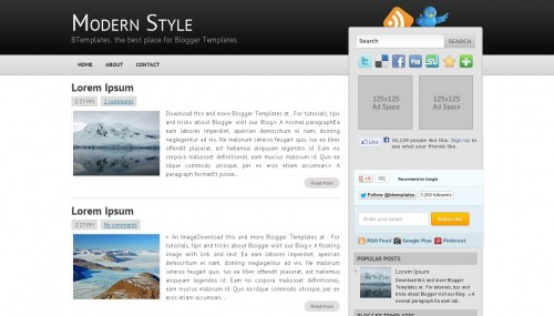 modern-style blogger template