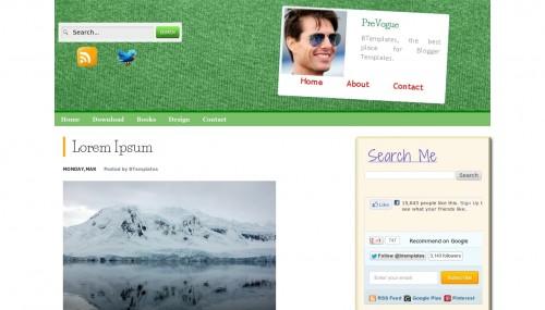 prevogue blogger template