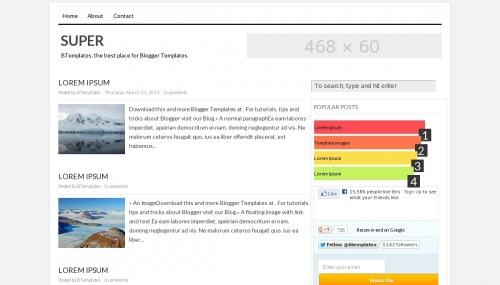 super blogger template