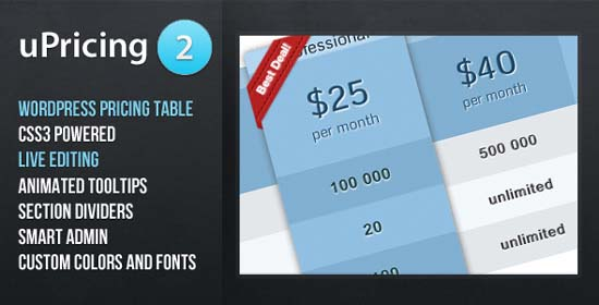 uPricing - Pricing Table for WordPress