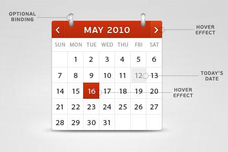 3D Calendar PSD