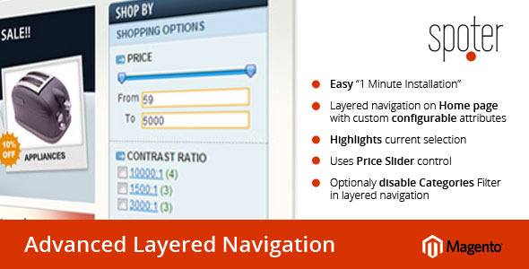 Advanced Layered Navigation for Magento CE