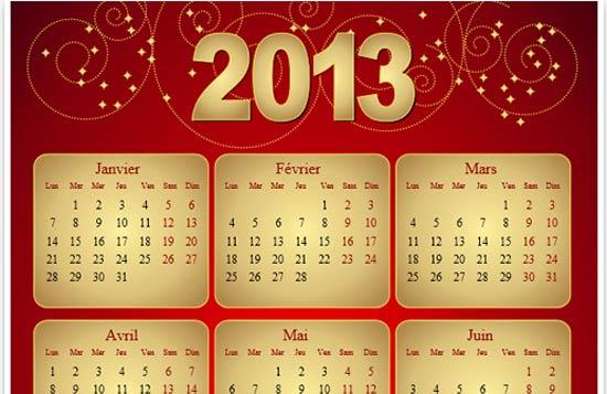 Calendar Grid PSD