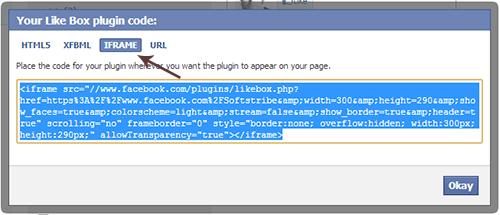 Facebook Like Box Get Iframe Code