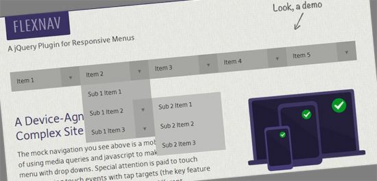FlexNav jQuery Plugin For Responsive Menus