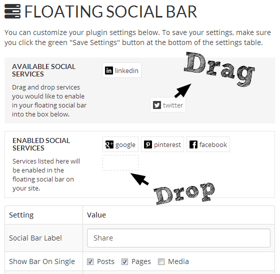 Floating Social Bar WordPress Plugin