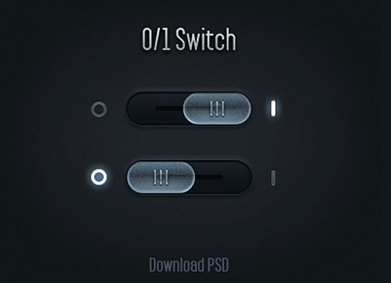 Glossy PSD Toggle Switches UI