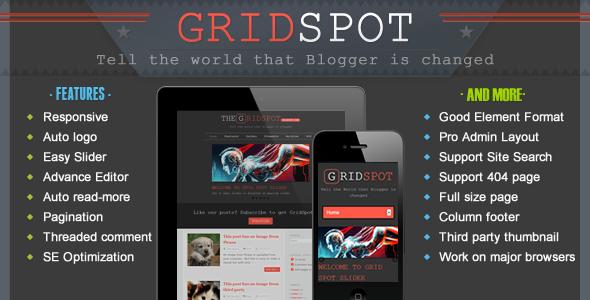 Grid Spot - Responsive Blogger Template