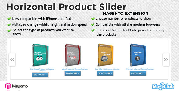 Horizontal Product Slider Magento Extension