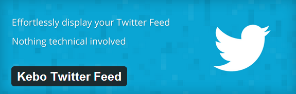 Kebo Twitter Feed WordPress Plugin
