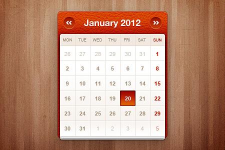 Little calendar widget