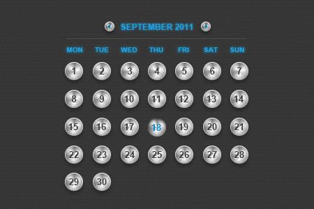 Metal Calendar
