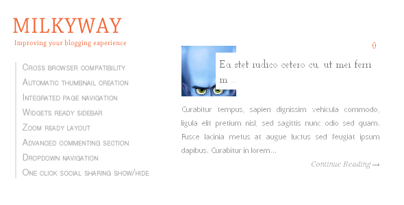 Milkyway Blogger Template