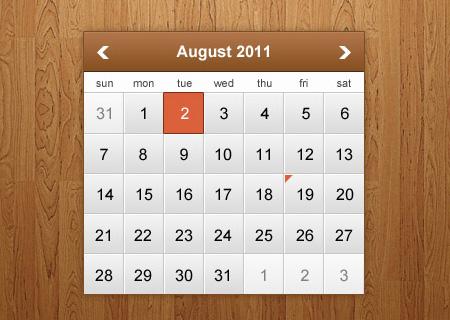 Modern Calendar PSD