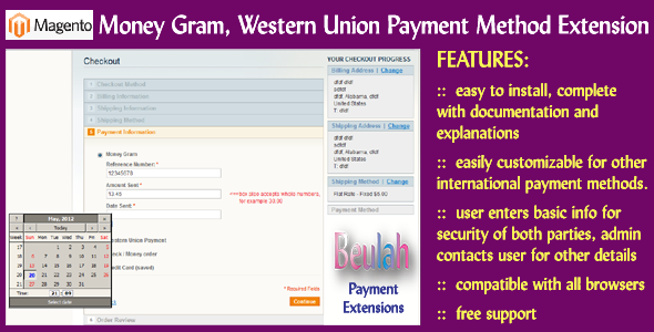 Money Gram, Western Union Payment Method Extension