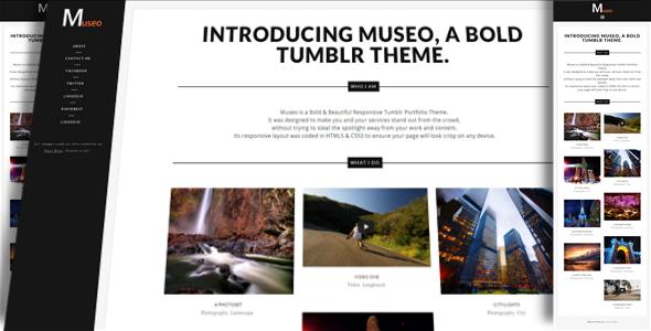 Museo - A Bold Tumblr Portfolio Theme
