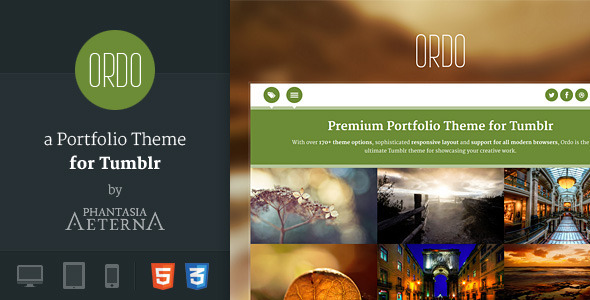 Ordo - a Portfolio Theme for Tumblr