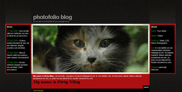 Photofolio Blogger Template