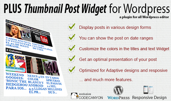 Plus Thumbnail Post Widget - Premium Plugin
