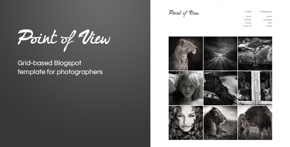 Point Of View (Blogger Template)