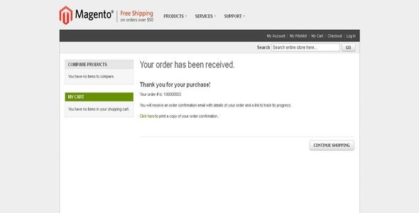 Print Order Confirmation Receipt as Guest User