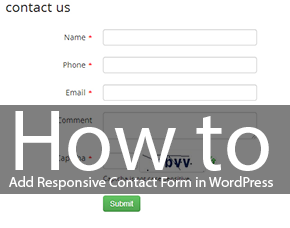 How to Add Responsive Contact Form in WordPress