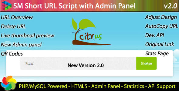 SM Short URL Script with Admin panel