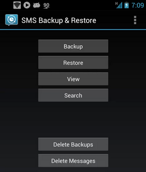 SMS Backup and Restore Android Application