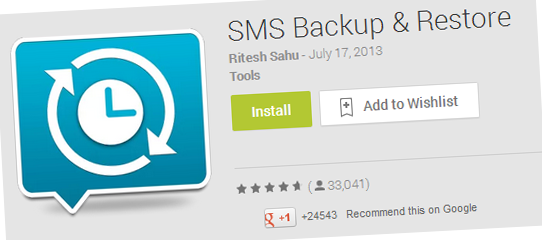SMS Backup and Restore