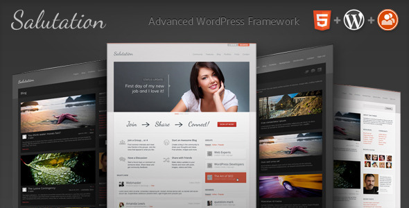 Salutation WordPress + BuddyPress Theme