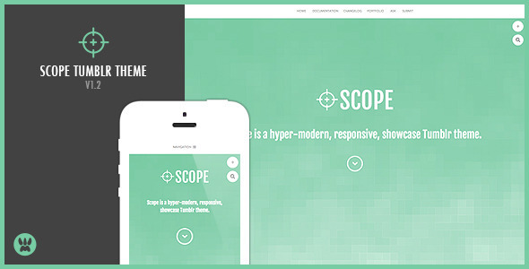 Scope - A Responsive Showcase Tumblr Theme