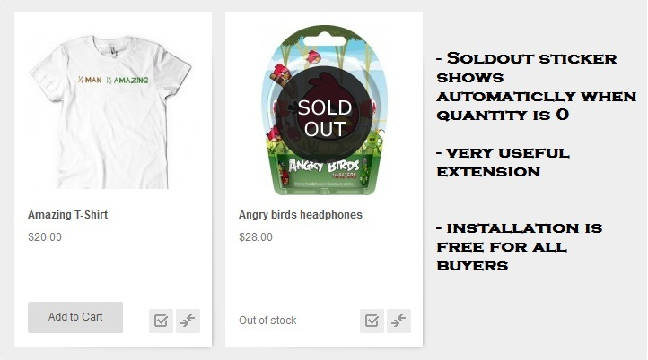 Sold Out Extension For Magento