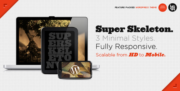 Super Skeleton WP Responsive, Minimal, Beautiful