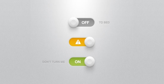 Switches with Lights and Shadows PSD