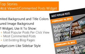 Top Stories - Most Viewed Commented Posts Widget
