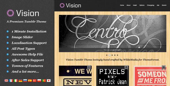 Vision Tumblr Portfolio Theme