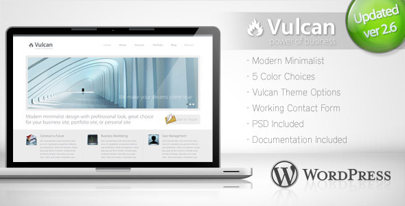 Vulcan - Minimalist Business WordPress Theme 4