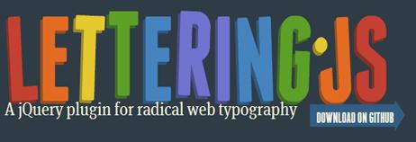 lettering js jQuery Plugin