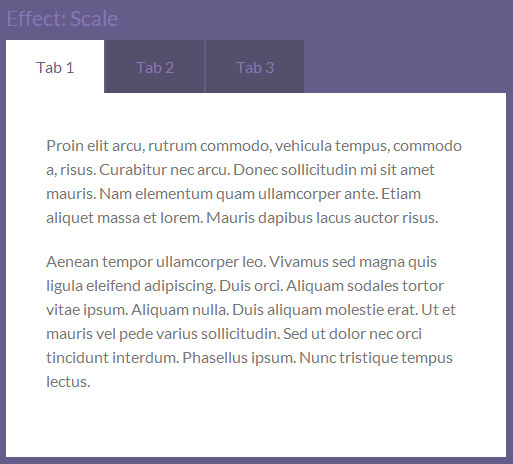 tabulous js to jQuery tabs effects