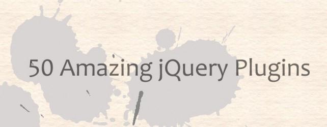 50 Amazing jQuery Plugins