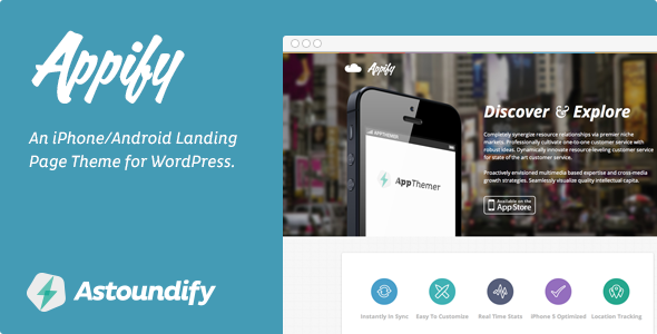 Appify - iPhone/Android App Landing Page Theme
