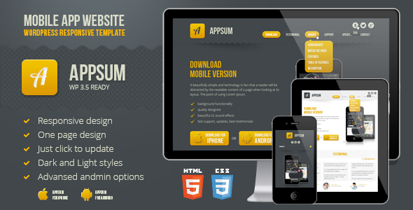 Appsum - WordPress Responsive Template