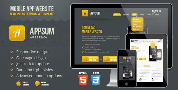 Appsum - WordPress Responsive Template
