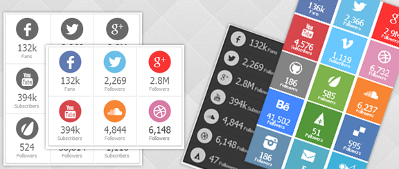 Arqam - Retina Responsive WP Social Counter Plugin