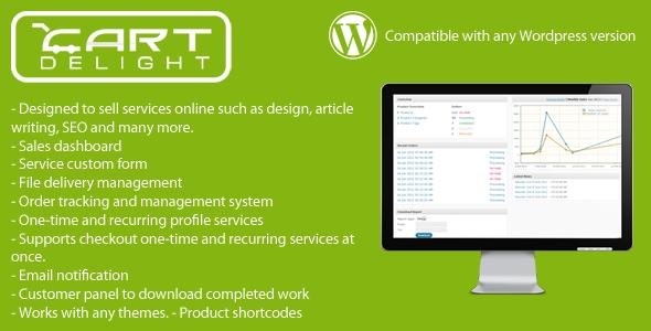 CartDelight - Service Commerce WordPress Plugin