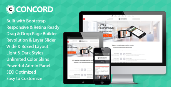 Concord - Retina Responsive Multi-Purpose WP Theme