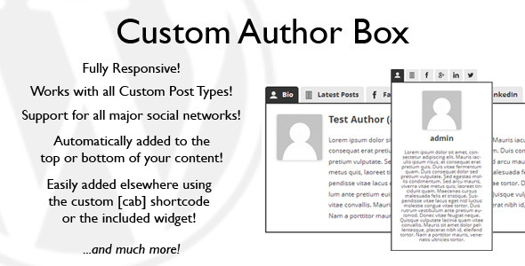 Custom Author Box